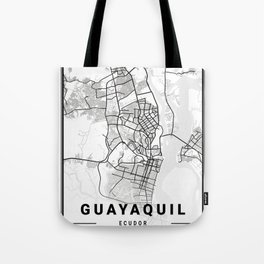 Guayaquil Light City Map Tote Bag
