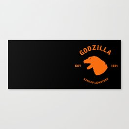 GODZILLA Est. 1954 - Black and Orange Canvas Print