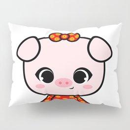 Cute Asian Piggy Pillow Sham