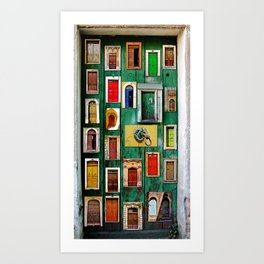 Storytelling doors  Art Print