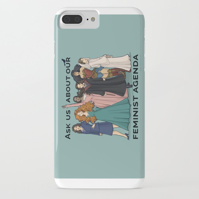 feminist agenda iphone case