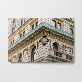 Mint and Cream New York City Metal Print