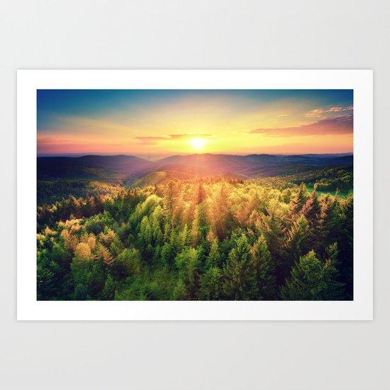 majestic sunrise Art Print