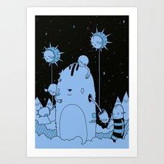 Quest 2 (blue) Art Print