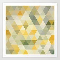 Positive Vibes Yellow Geometric Print Art Print