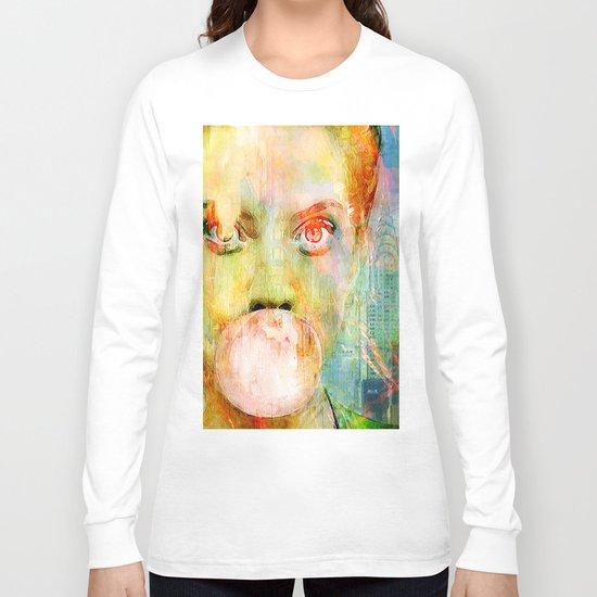 bubble gum  girl Long Sleeve T-shirt