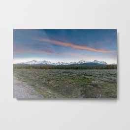 Sawtooth Mountain Sunset, Stanley, Idaho Metal Print