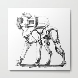 DOGGY-BOT Metal Print