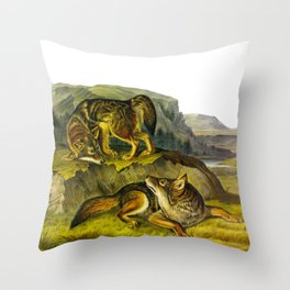 Prairie Wolf Throw Pillow