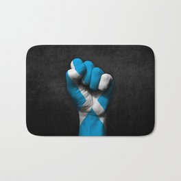 Scottish Flag on a Raised Clenched Fist Bath Mat
