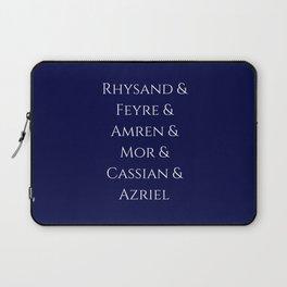 Rhysand Feyre Amren Cassian Mor Azriel ACOMAF Fandom Laptop Sleeve