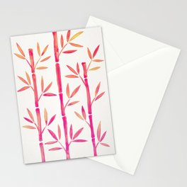 Bamboo Stems – Pink Palette Stationery Cards