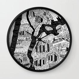 Hip-Hop Map of New York Wall Clock