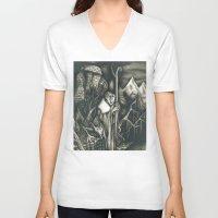 scott pilgrim V-neck T-shirts featuring The pilgrim by GLR67