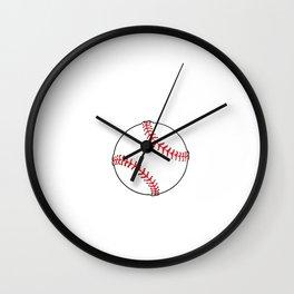 1% Talent 99% Work Baseball Sports Funny T-shirt Wall Clock