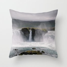 Waterfall 02 - Iceland Throw Pillow