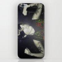 tegan and sara iPhone & iPod Skins featuring Tegan by Virginie Le Guen-Bertheaume