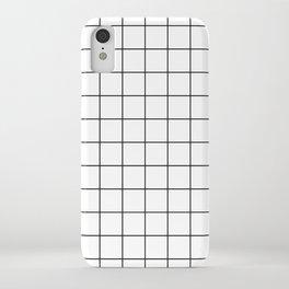 Grid Simple Line White Minimalist iPhone Case