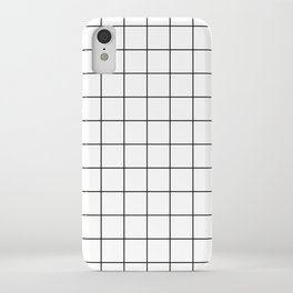 Grid Pattern Stripes Lines Black and White Minimalist Geometric Stripe Line iPhone Case
