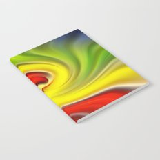 Twirl Red Green Gold Notebook