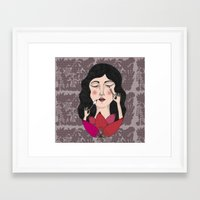 make up Framed Art Prints featuring Make up by Judit Canela