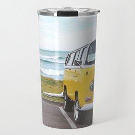 Combi yellow beach Travel Mug