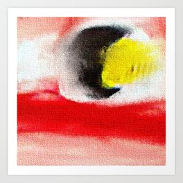 Abstract art. A painting for Tomie Ohtake Art Print