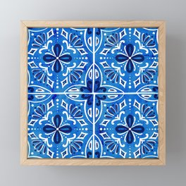Sevilla - Spanish Tile Framed Mini Art Print