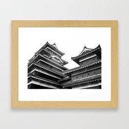 Matsumoto Japan Black & White Framed Art Print