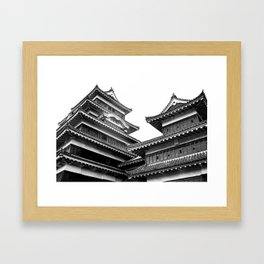 Matsumoto Japan Black & White Framed Art Print