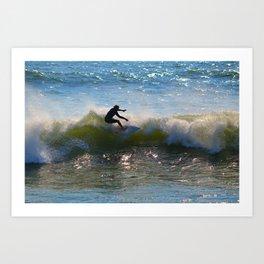 Surf's Up Dude Art Print