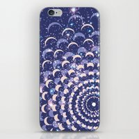 moon phases iPhone & iPod Skins featuring Moon Phases by Cina Catteau