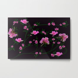 Pink flower clipping Metal Print