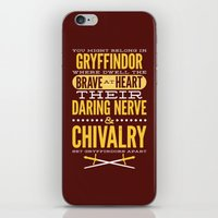 gryffindor iPhone & iPod Skins featuring Gryffindor by Dorothy Leigh
