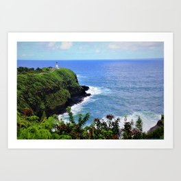 Kilauea Point Lighthouse Kauai by Reay of Light Art Print