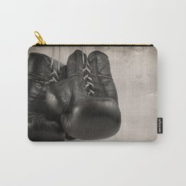 Boxing Gloves black and white Carry-All Pouch