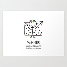 WINNER by ISHISHA PROJECT Art Print