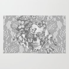 Ashes to Ashes lace skull Rug