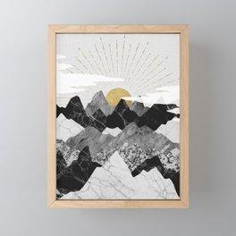 Sun rise Framed Mini Art Print