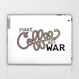 Coffee Not War (Sunset) Laptop & iPad Skin