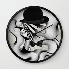 gentle smoke Wall Clock
