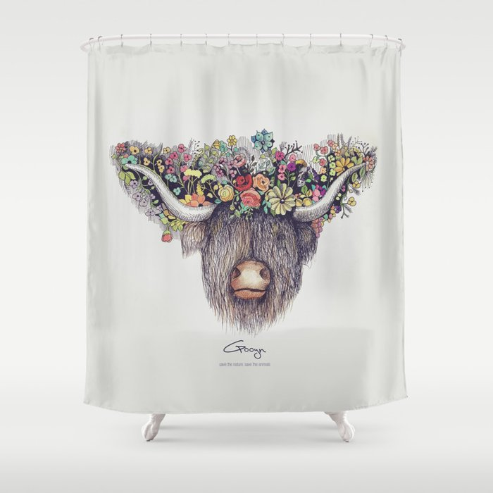 Buffalo Shower Curtain By Narekgyulumyan