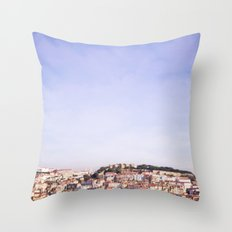 Lisbon on a sunny day Throw Pillow