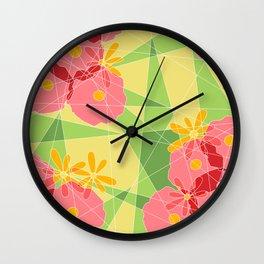 Floral Cubed Wall Clock