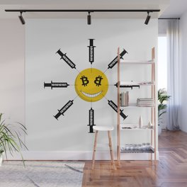 Smile Bitcoin Has Been Injected Wall Mural