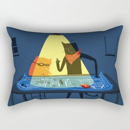 The Adventures of Ham & Cat: The Milk Crate Heist  Rectangular Pillow