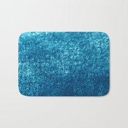 Petrol Velvet Blue Hues Texture Design Bath Mat