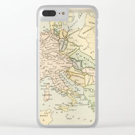 Old Map of Europe under the Empire of Charlemagne Clear iPhone Case