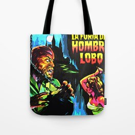 The fury of wolfman * La furia del Hombre Lobo * Vintage Movies Inspiration Tote Bag