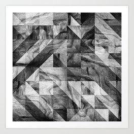STONE STONE Art Print